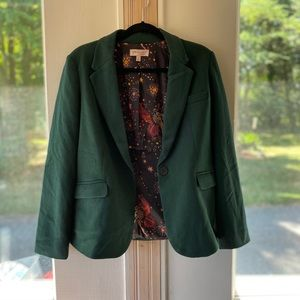 Philosophy size 8 green blazer